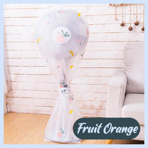 Round Electric Fan Dust Cover Home DazzyCandy Fruit Orange Short