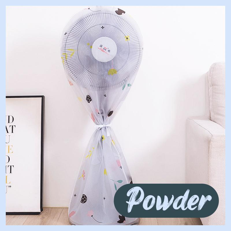 Round Electric Fan Dust Cover Home DazzyCandy Powder Long