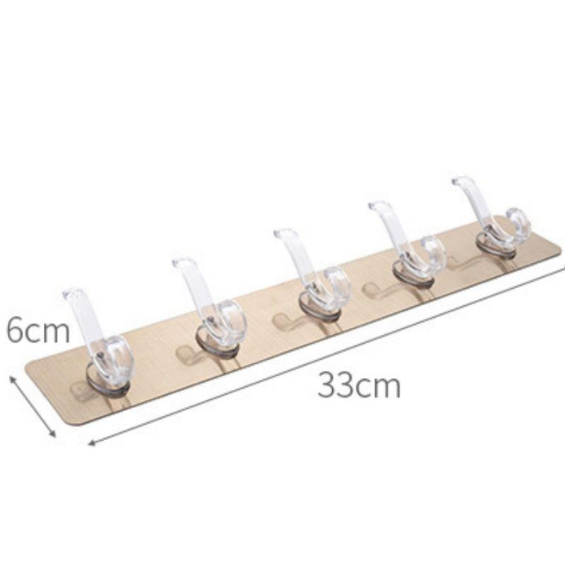 Self-Adhesive Rack with 5 Hooks starryhome