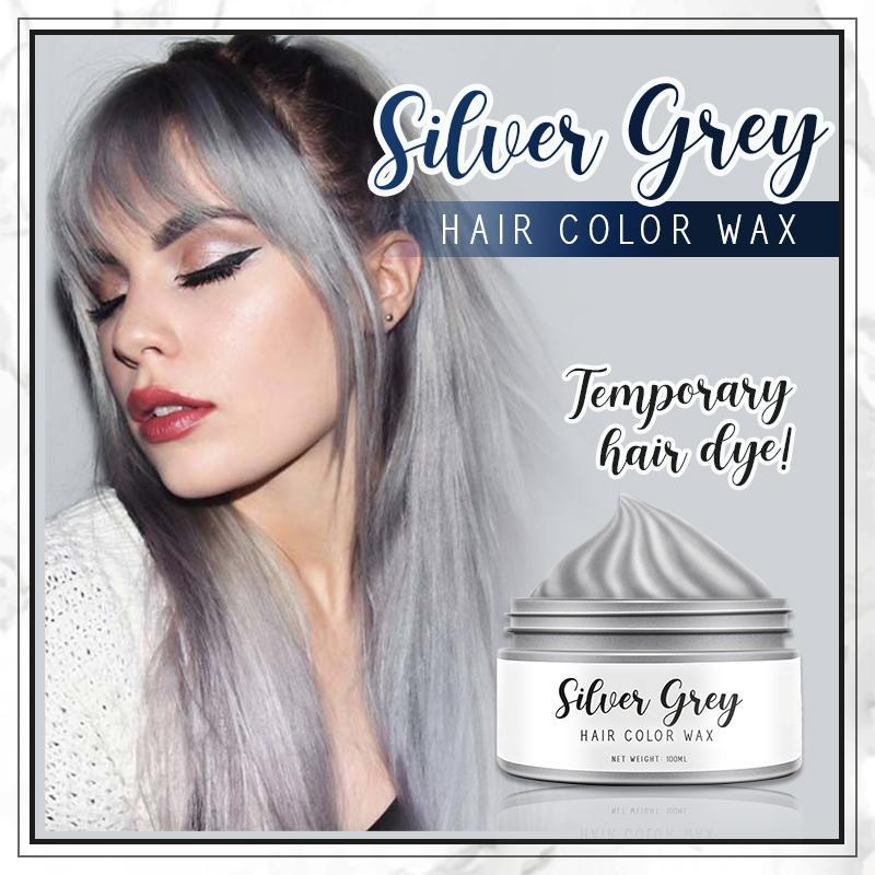 Silver Grey Hair Color Wax starryhome