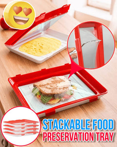 Stackable Food Preservation Tray Kitchen ladybethel 1 Pc