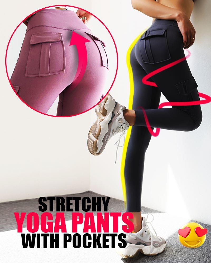 Stretchy Yoga Pants with Pocket Bottoms LuminousUnicorn