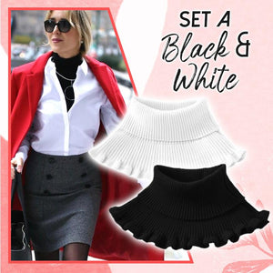 Stylish Turtleneck Dickey Collar (✨50% OFF) Women DazzyCandy 💖40% OFF: Black & White (2 Pcs)