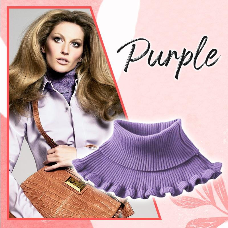 Stylish Turtleneck Dickey Collar (✨50% OFF) Women DazzyCandy Purple