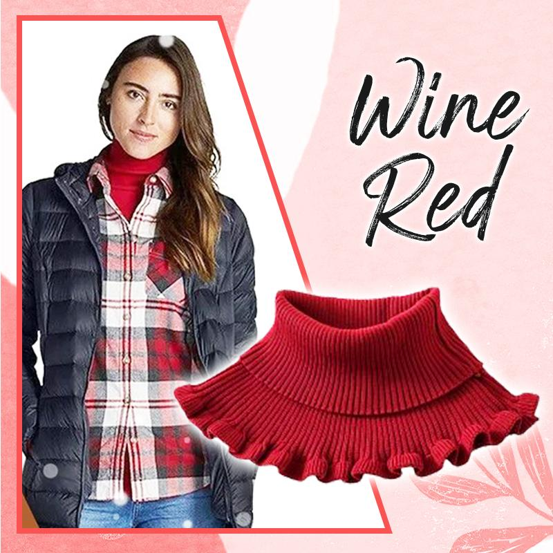 Stylish Turtleneck Dickey Collar (✨50% OFF) Women DazzyCandy Wine Red