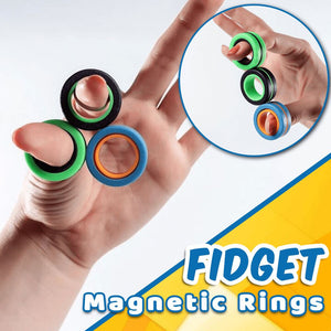 Twiddle Magnetic Spinning Rings Kids ladybethel