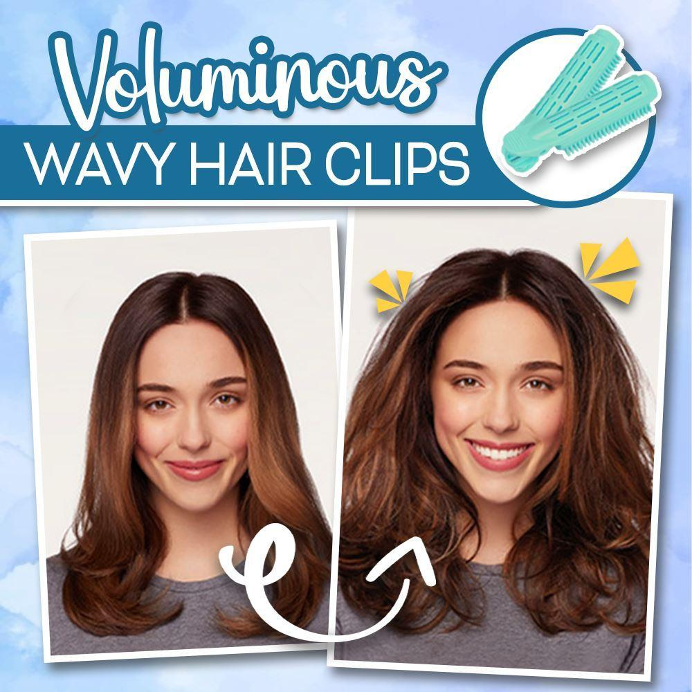 Voluminous Wavy Hair Clips Hair MadameFlora Navy 4pcs