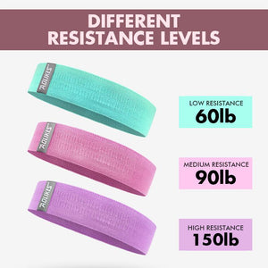 WiryGirl™ 3 Levels Fitness Band Wellness BayfairConcept Pink ( Medium)
