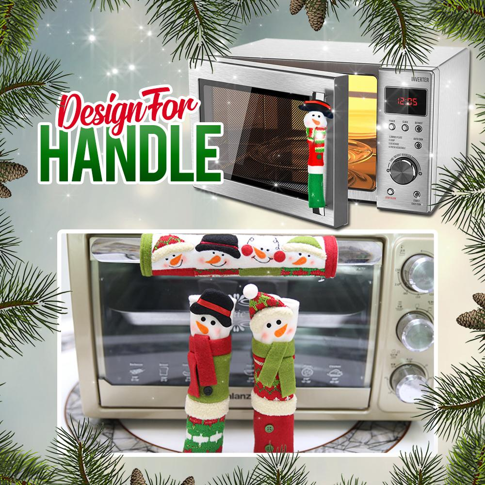 Xmas Kitchen Handle Covers (Set of 3) Kitchen DazzlingBreeze