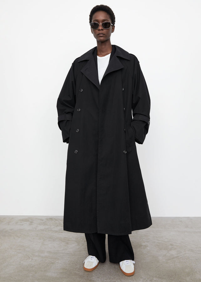 Techno cotton trench black