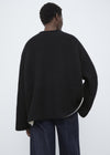 Double-sided cashmere knit black