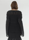 Coripe linen silk blouse black