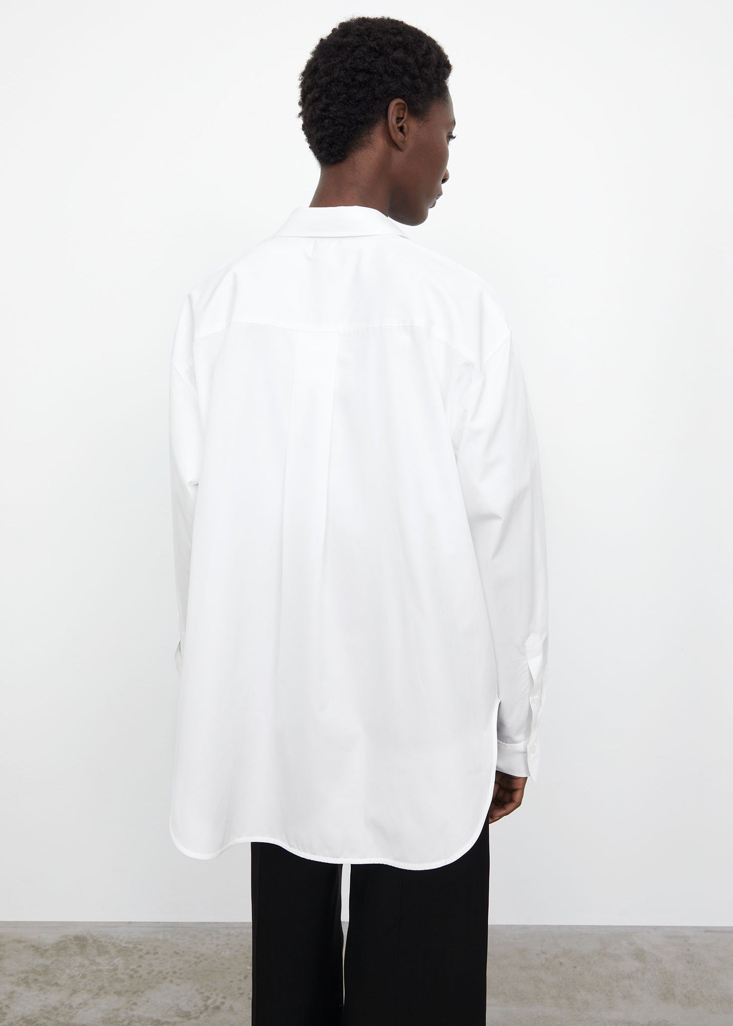 Oversized poplin shirt white