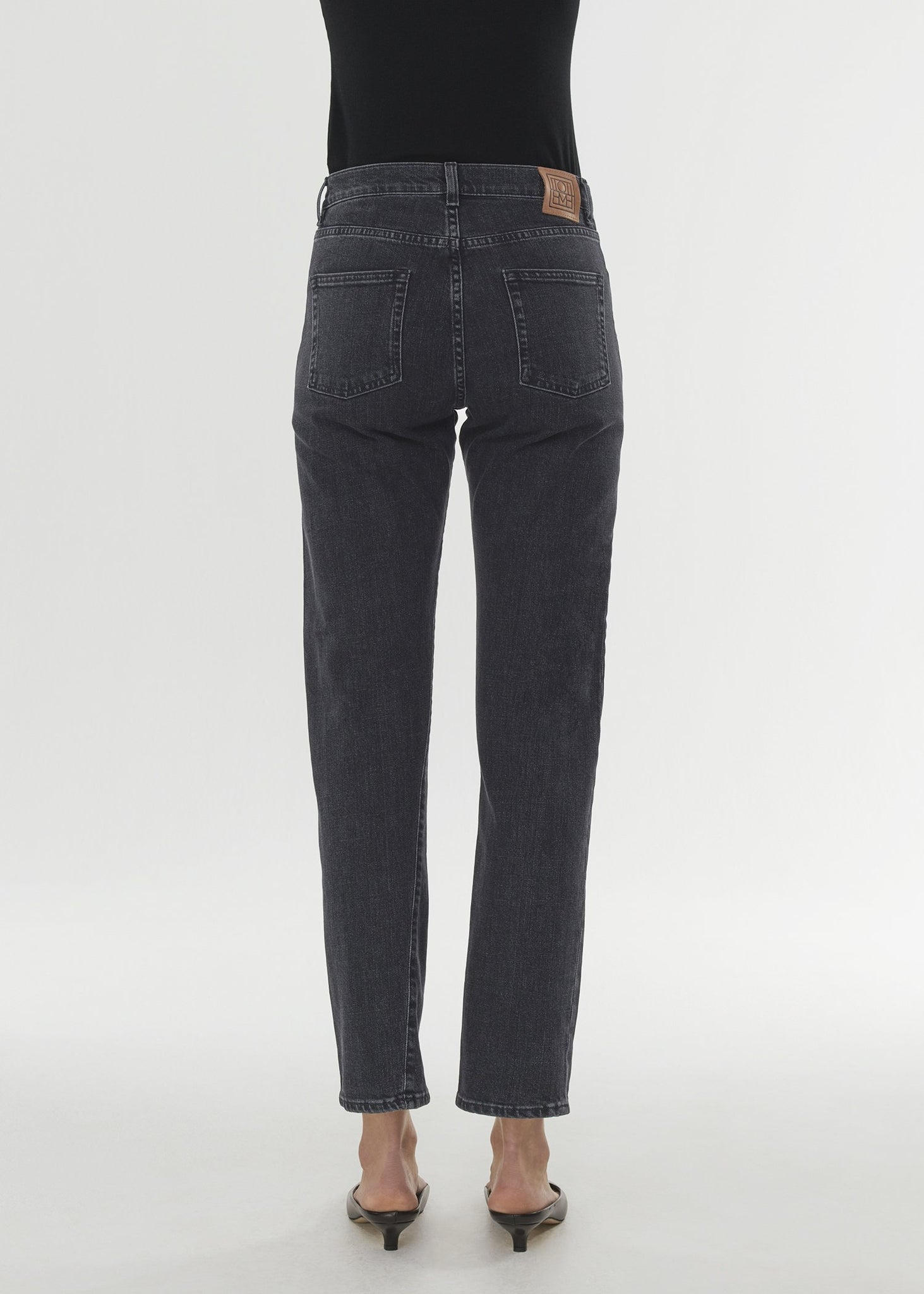 Twisted seam denim grey wash