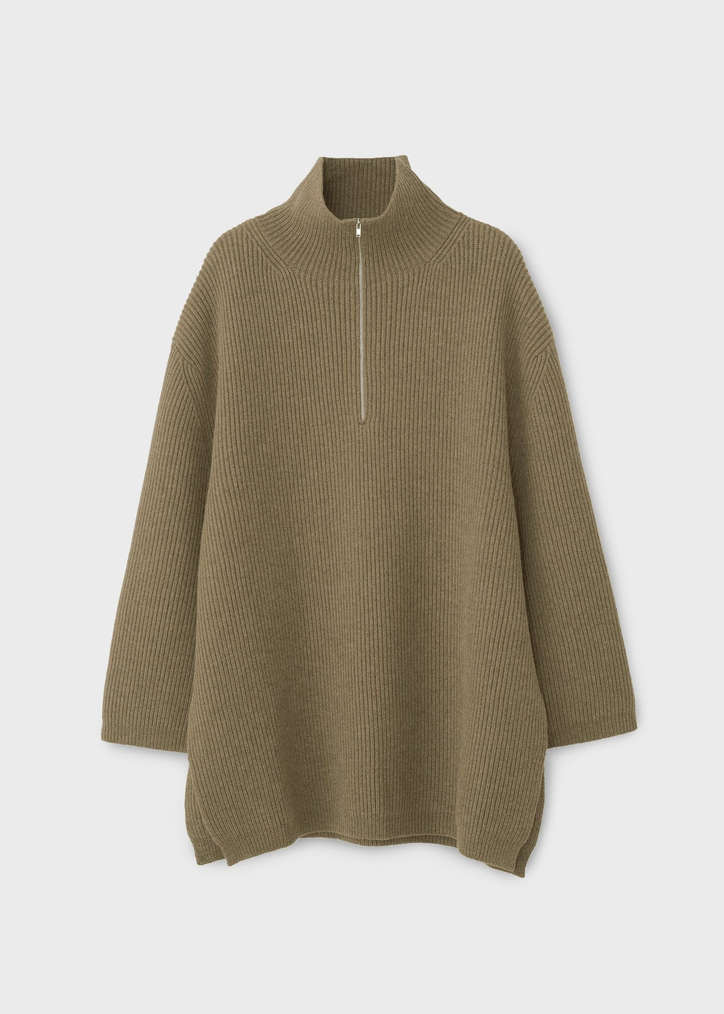 Fisherman knit moss melange