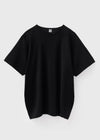 Oversized cotton tee black