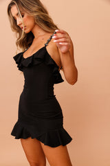 Frilled to Be Here Mini Dress // Black