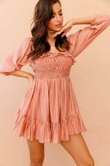 Not Your Babydoll Mini Dress // Rose