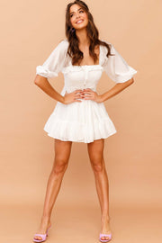 Not Your Babydoll Mini Dress // White