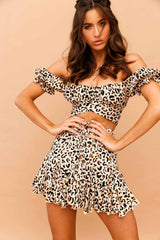 Queen of the Jungle Leopard Print Mini Skirt