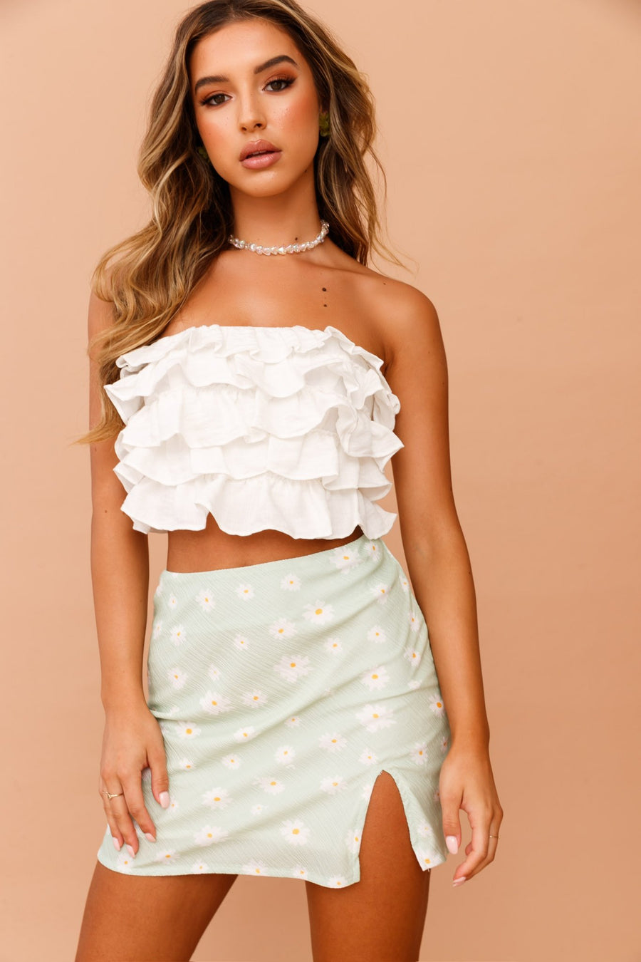 Ruffled Up Tube Top // White | Sage and Paige.?id=25072210182313