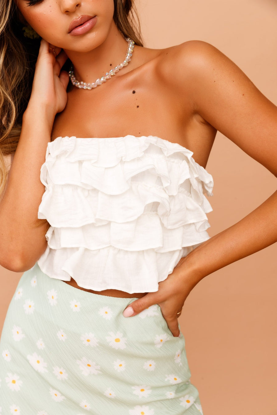 Ruffled Up Tube Top // White | Sage and Paige.?id=25072212770985