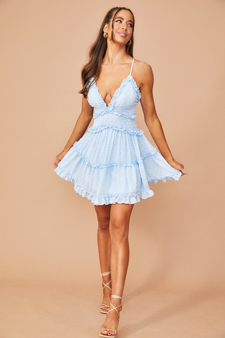 Top Tier Mini Dress // Baby Blue | Sage and Paige.?id=25173499576489