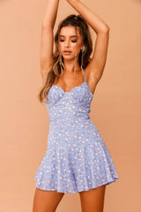 Rosey Outlook Mini Dress // Blue Print | Sage and Paige.?id=23930956710057