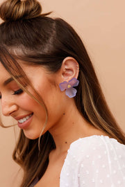 Violet Mist Earrings // Lilac