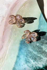 Eden Gold Earrings // Rose Gold