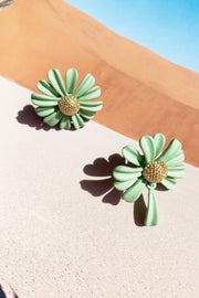 Viridity Ear Studs // Green
