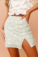 Daisy Daze Mini Skirt // Mint | Sage and Paige.?id=25069628522665