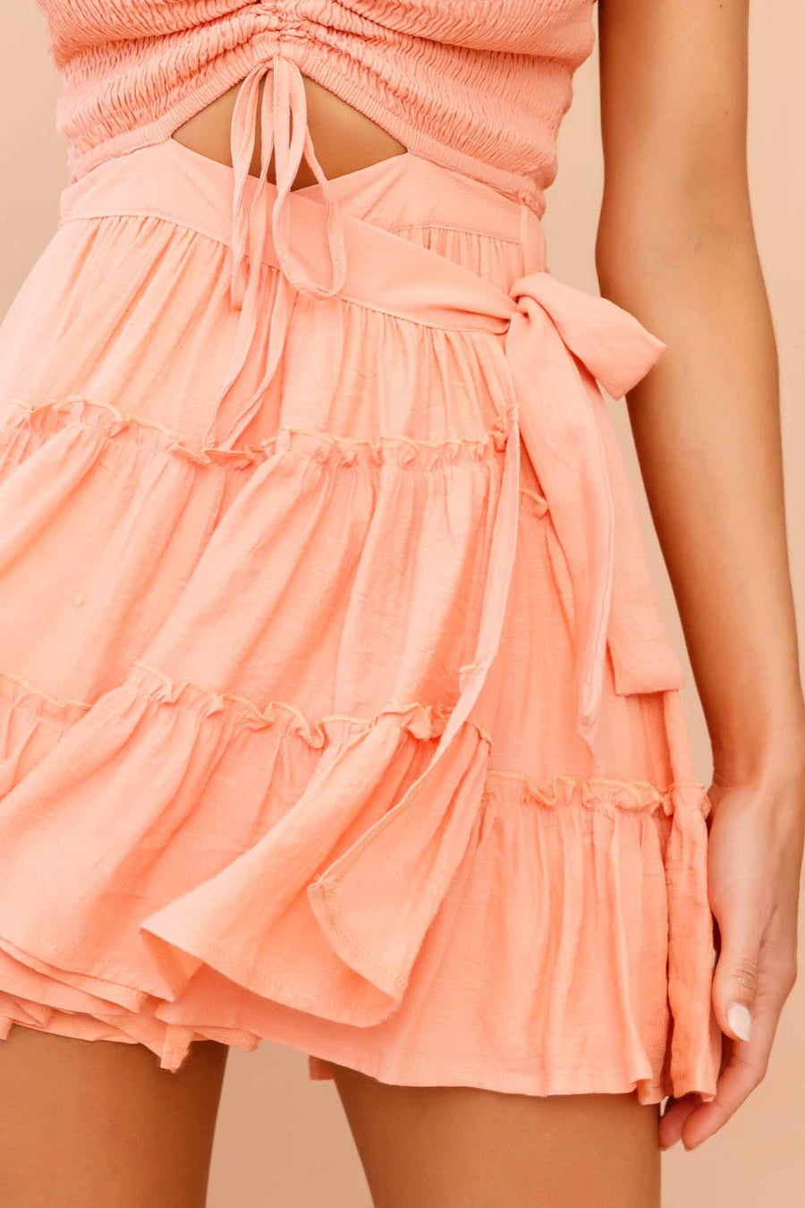 Twilight Mini Dress // Peach