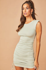 City Sleek Bodycon Mini Dress // Olive