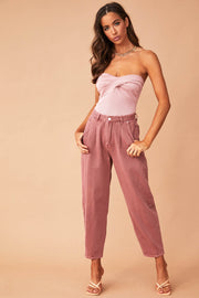 Powder Puff Mom Jeans // Rose
