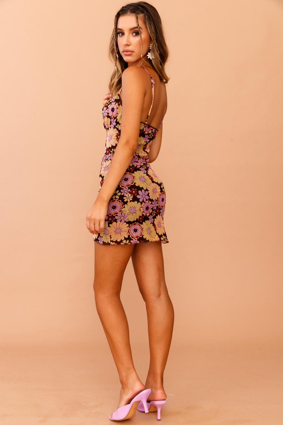 Back Then Babe Mini Dress // Purple