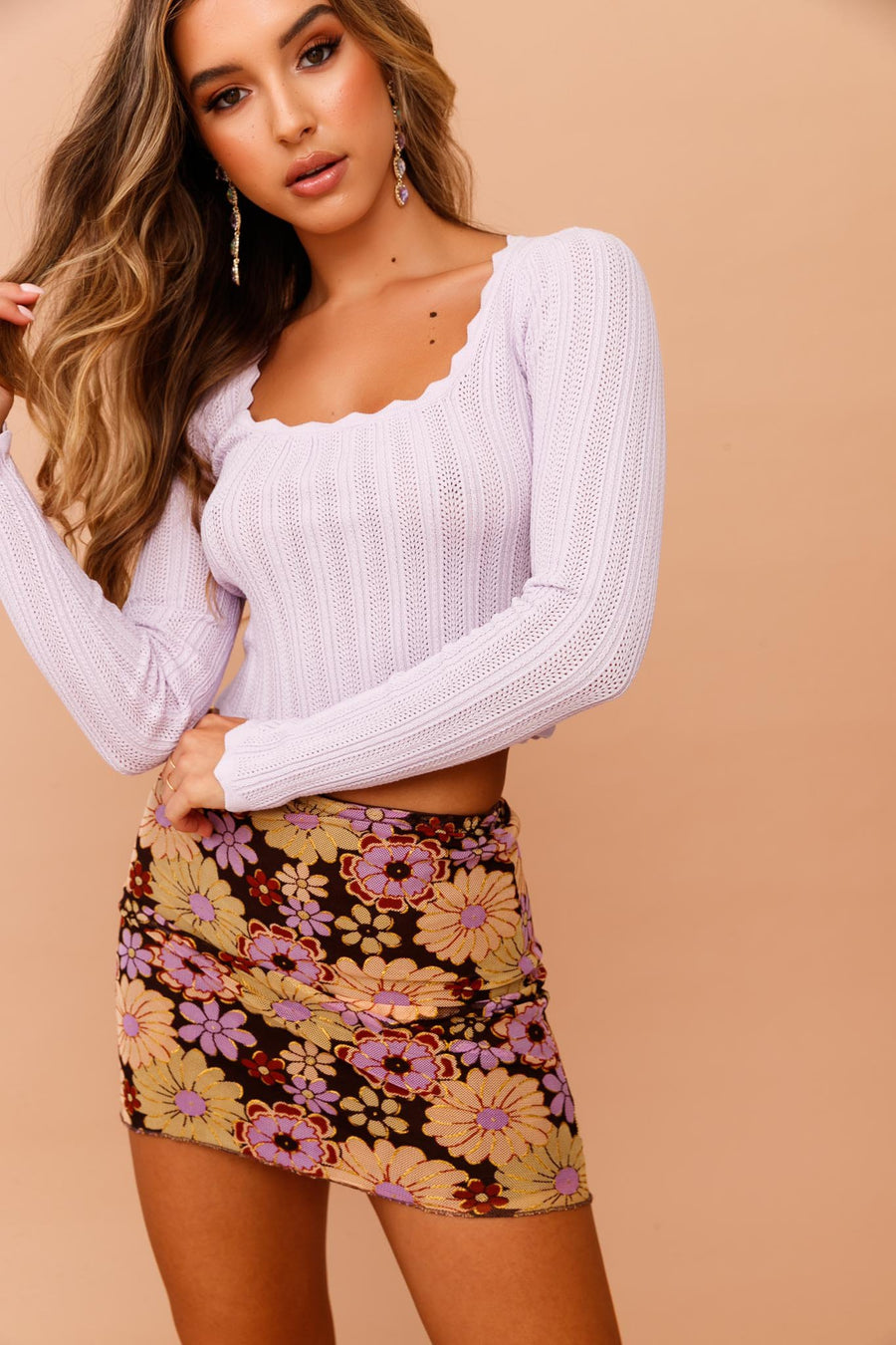 Flower Child Skirt // Purple