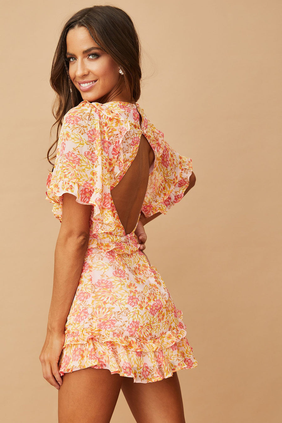 Amalfi Dress // Pink Orange