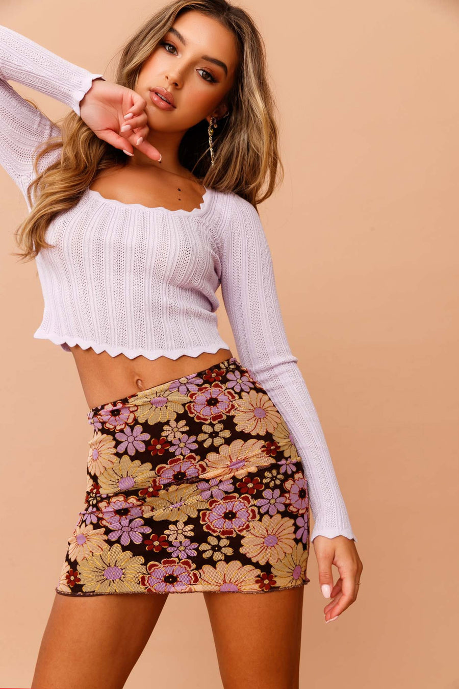Serendipity Knit Top // Purple