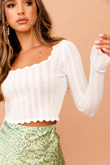 Serendipity Knit Top // White