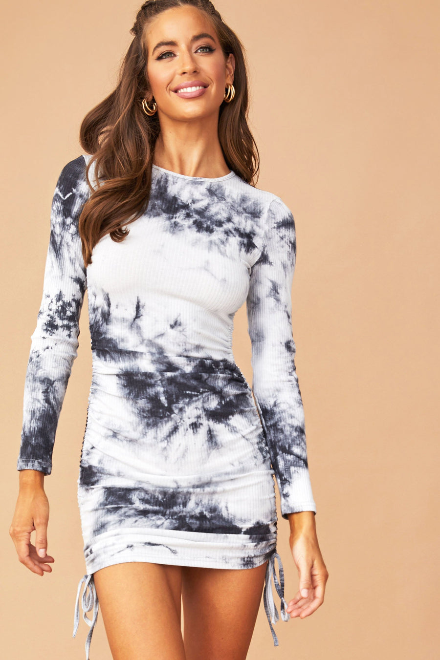 Skye Tie Dye Dress // Black