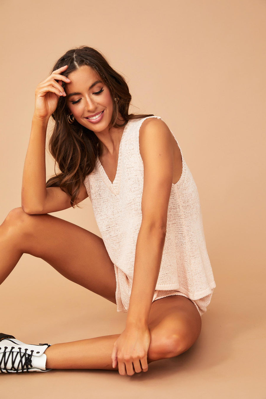 Hailee Lounge Top // Nude | Sage and Paige.