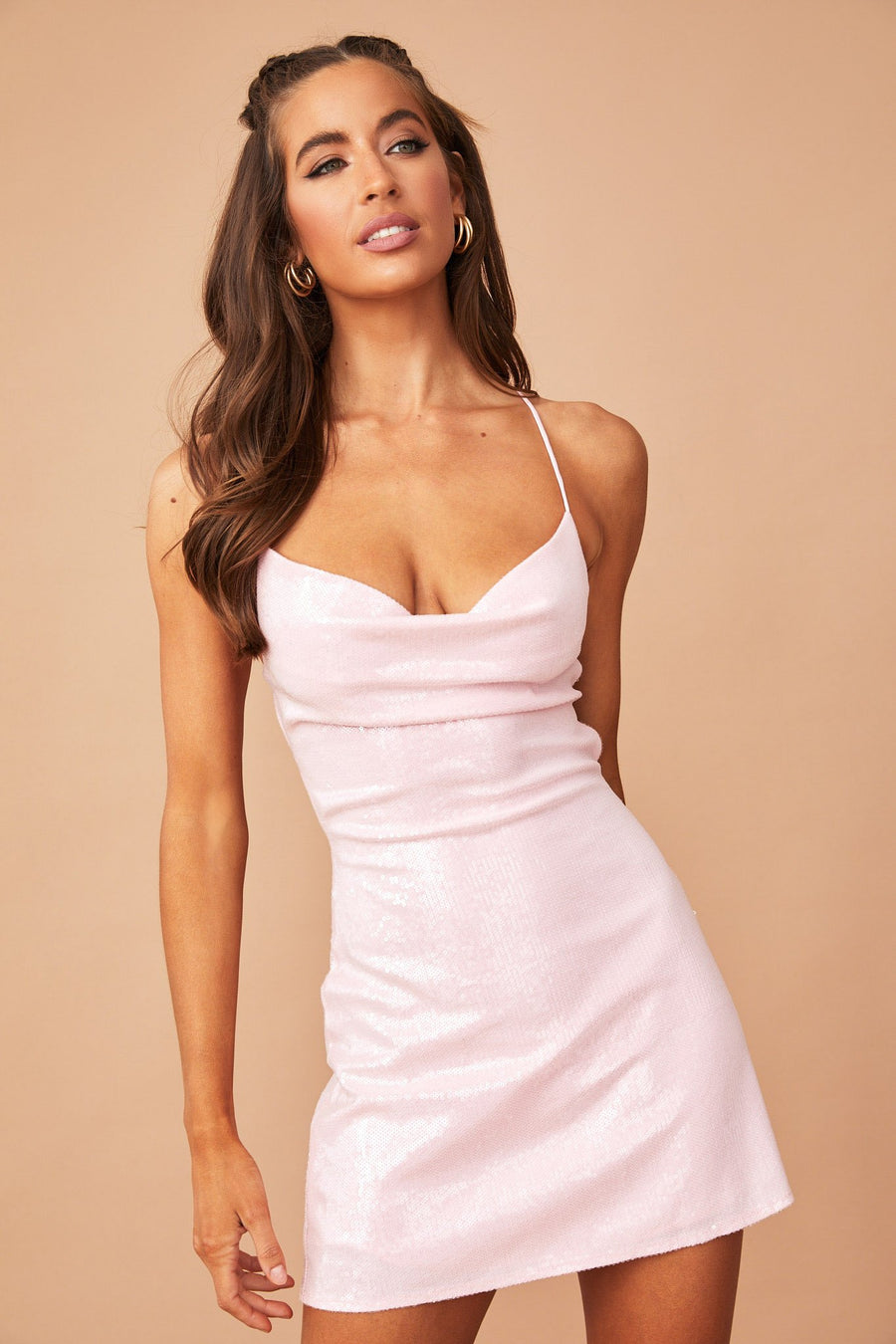 Go Glitter Mini Dress // Pink