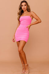 Sugar Rush Mini Dress // Hot Pink