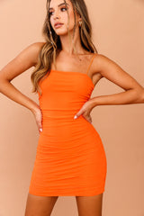 Sugar Rush Mini Dress // Orange