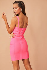 Stepping Out Bandage Dress // Hot Pink