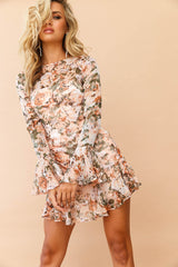 Lost In Seasons Dress // Nude/Multi