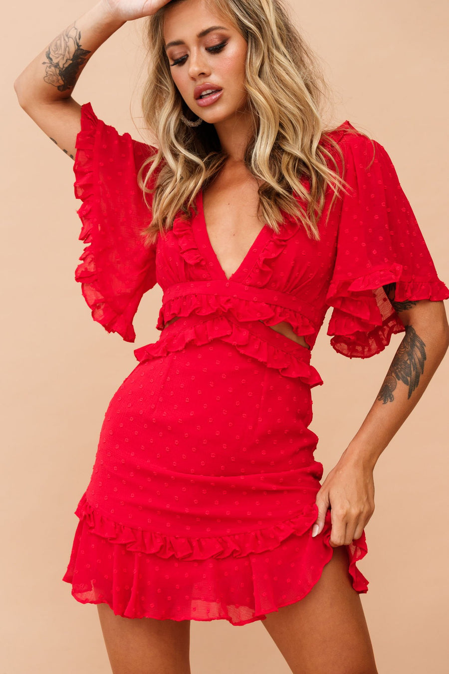 Sprung In Love Dress // Red