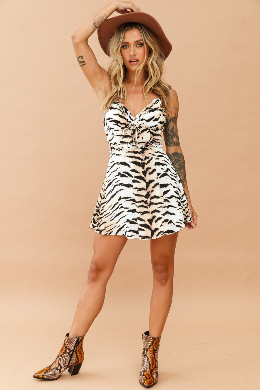 Wild West Dress // Tiger Print