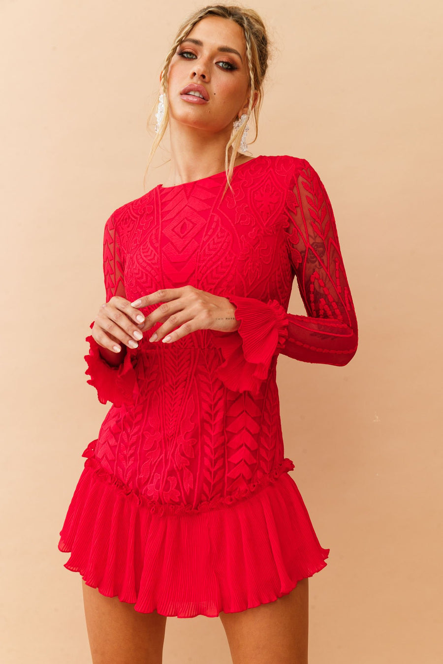 The Only Muse Dress // Red